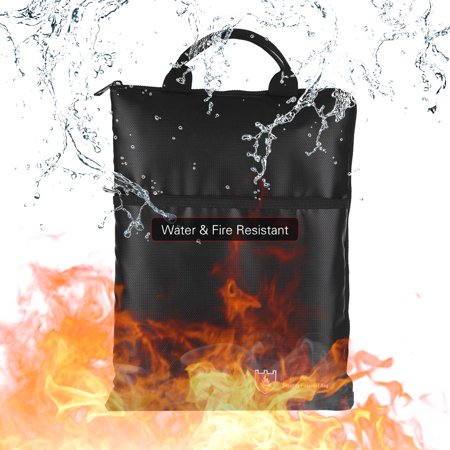Fireproof Document Bag Water Resistant File Pouch Envelope Holder Silicone Coated Fiberglass Zipper Closure Safe Storage for Cash Money Passport Valuables - image 3 of 7