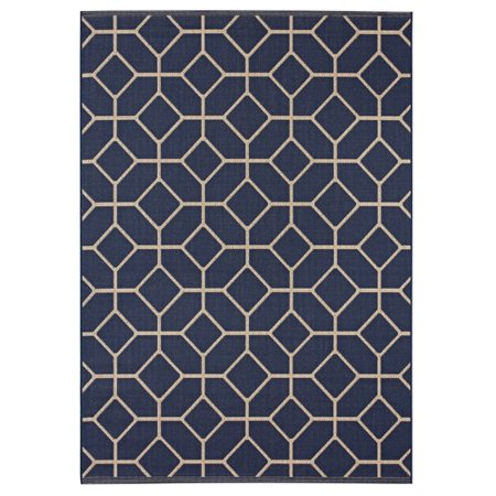 Balta Rugs Bay Village Navy Beige Indoor Outdoor Area Rug