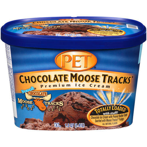 PET Chocolate Moose Tracks Premium Ice Cream, 1.5 qt