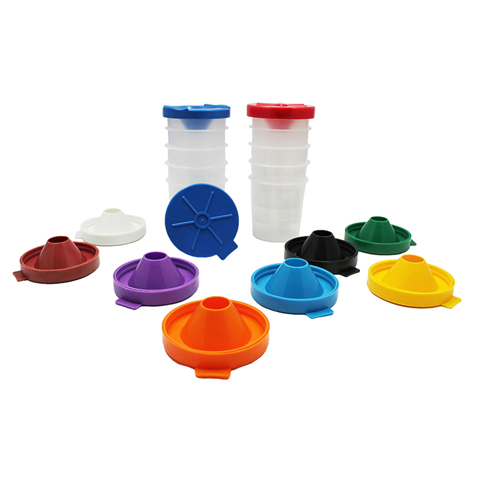 No-Spill Paint Cups, 10/Pack