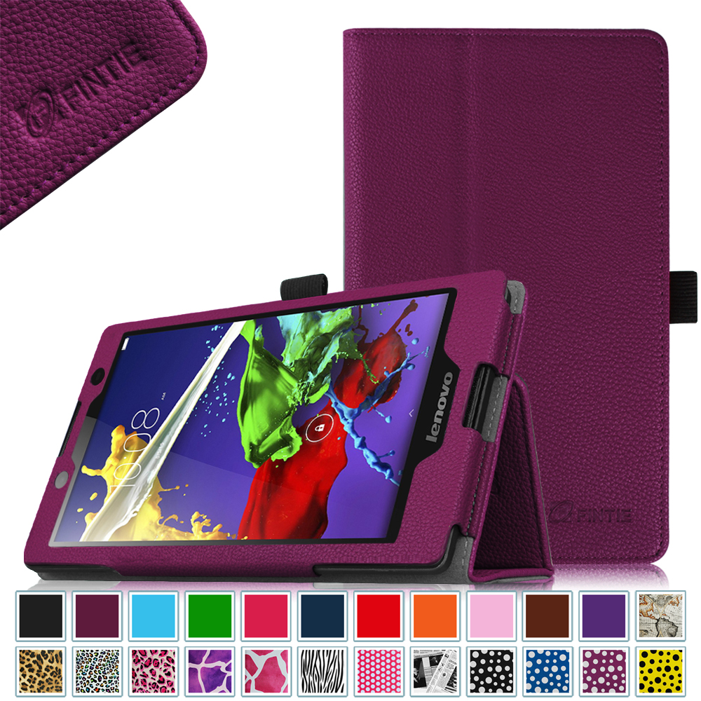 Lenovo Tab 3 (#TB3-850F) \/ Tab 2 A8 (#A8-50) 8a Android Tablet Case - Fintie Premium PU Leather Stand Cover, Purple