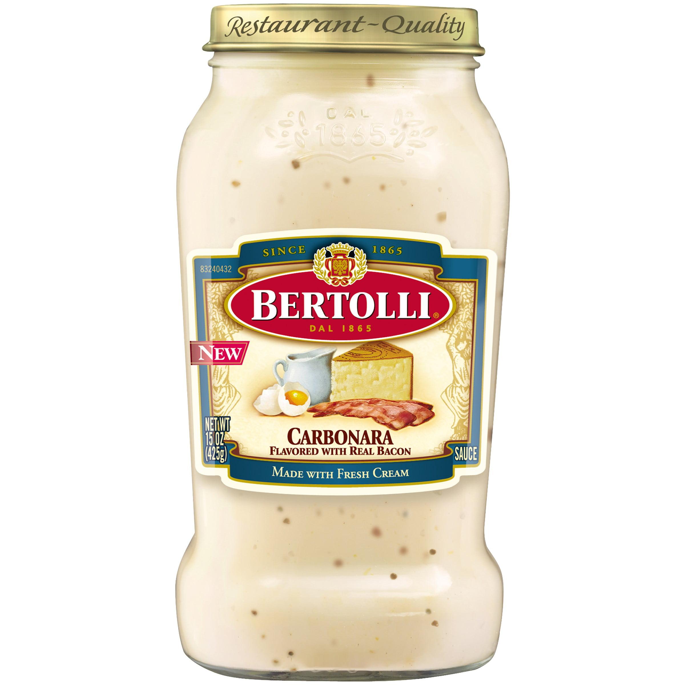 Bertolli Carbonara Sauce, Smokey Bacon, 15 Oz Bottle