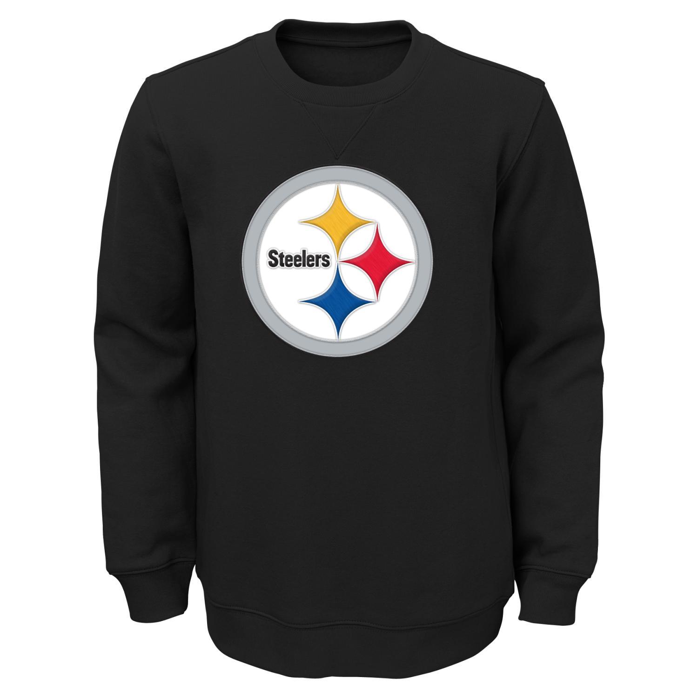 "Pittsburgh Steelers Youth NFL ""Prime"" Pullover Crew Sweatshirt"