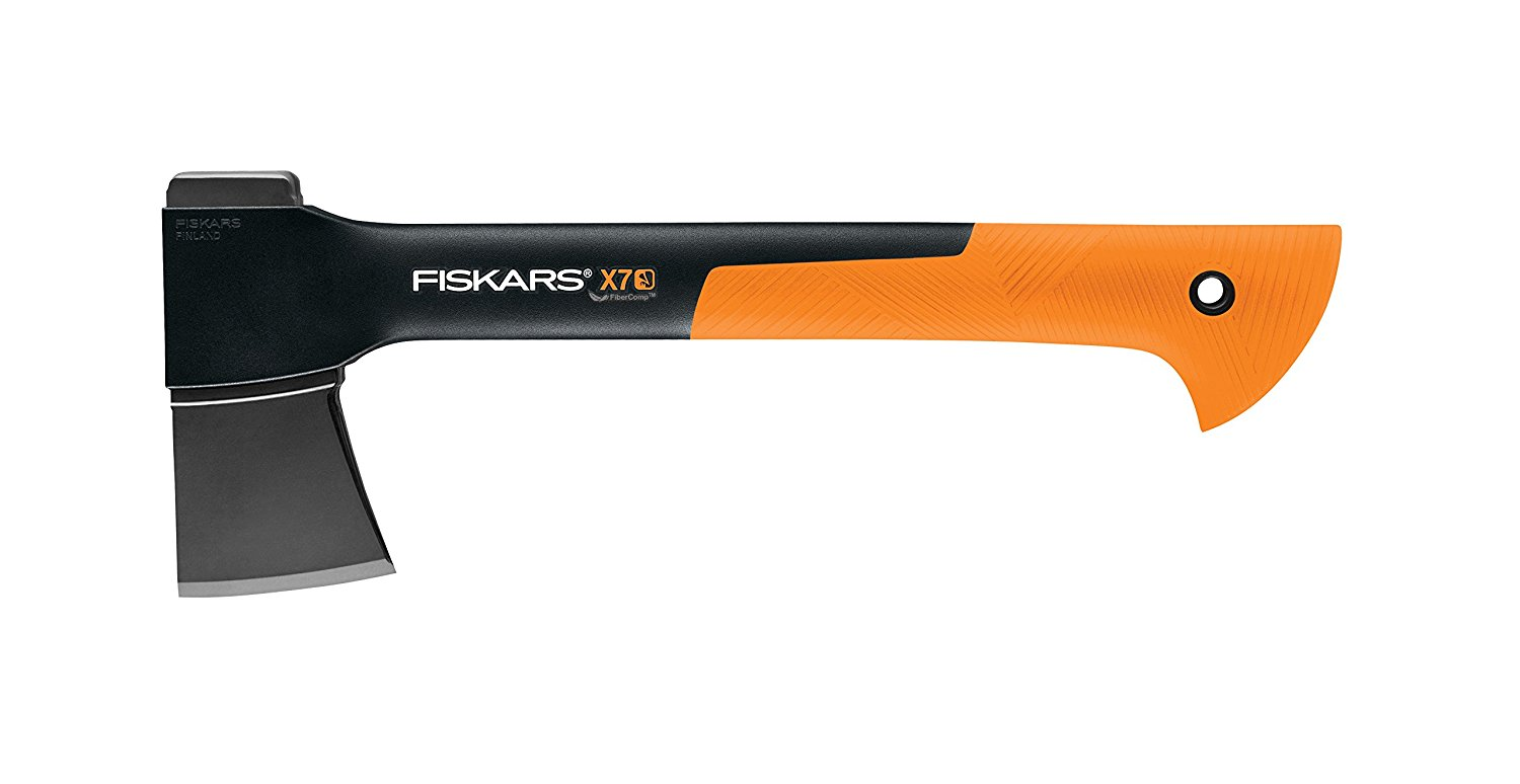 X7 Hatchet 14 Inch, Ideal for chopping kindling and small- to medium-sized logs By Fiskars by