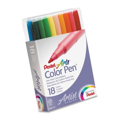 Pentel Arts Fiber Tip Color Pen PENS36018