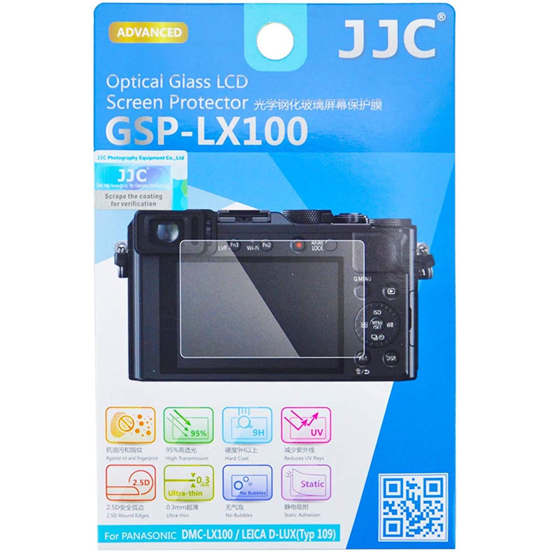 para c/ámara LEICA D-LUX irrompible antiburbujas DMC-LX100 II tipo 109 Protector de pantalla de cristal templado para Panasonic DMC-LX100 alta dureza ultra delgado HD // D-LUX 7 JJC
