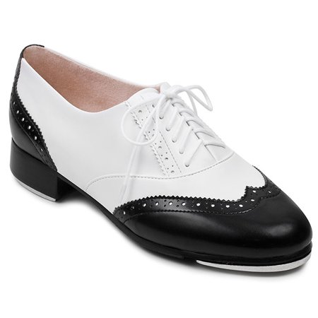 fb9d76607768 Bloch Women s Charleston White   Black Tap Shoes 11 M US - Walmart.com