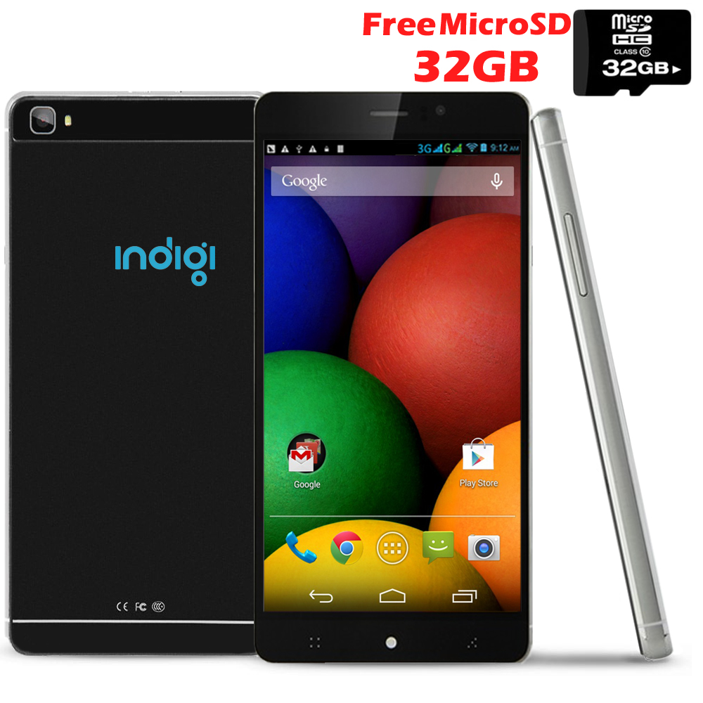 Indigi® 6.0in 3G Smartphone Android 5.1 WiFi + Bluetooth + Google Play Store (AT&T T-Mobile Unlocked) w/ 32gb microSD
