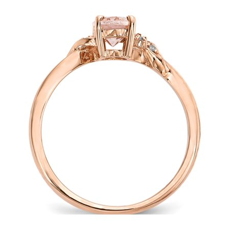 Rose 14k or rose poli morganite et diamants - image 2 de 3