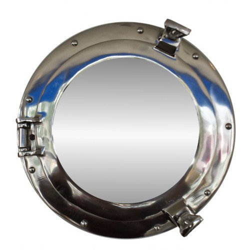 Handcrafted Nautical Decor Deluxe Class Chrome Porthole Mirror