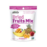 Planty Dried Fruit Snacks, No Sugar Added, Non-GMO, Vegan and Kosher Certified (Fruit Mix, 1-Pack)