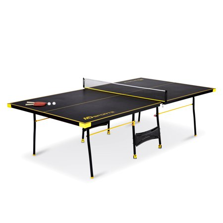 Md sports official size table tennis table with paddle and balls black yellow - Official ping pong table size ...