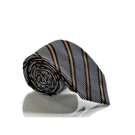 Gucci Vintage Tie - Gucci DENEB Men's Textured Stripe Woven Silk Necktie Silver