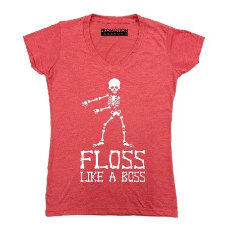 Promotion   Beyond - Floss Like A Boss Backpack Kid Dance Halloween Women s  V-neck de55fc509d