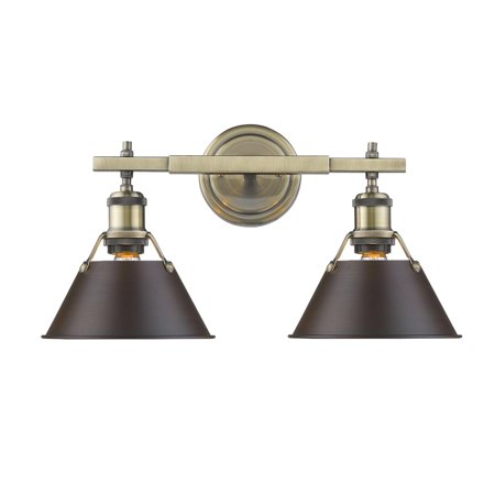 Golden Lighting 3306 Ba2 Ab Rbz Orwell Bathroom Light Aged Brass
