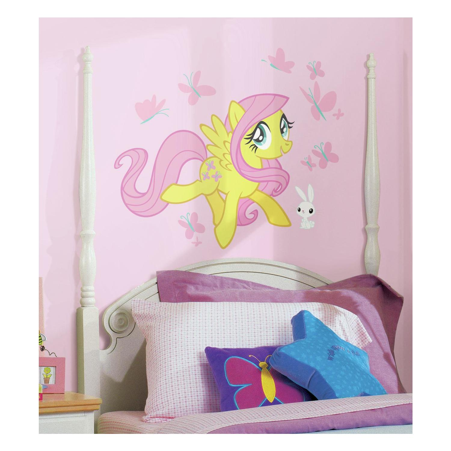 roommates decor my little pony fluttershy giant wall decals girls room stickers. Black Bedroom Furniture Sets. Home Design Ideas