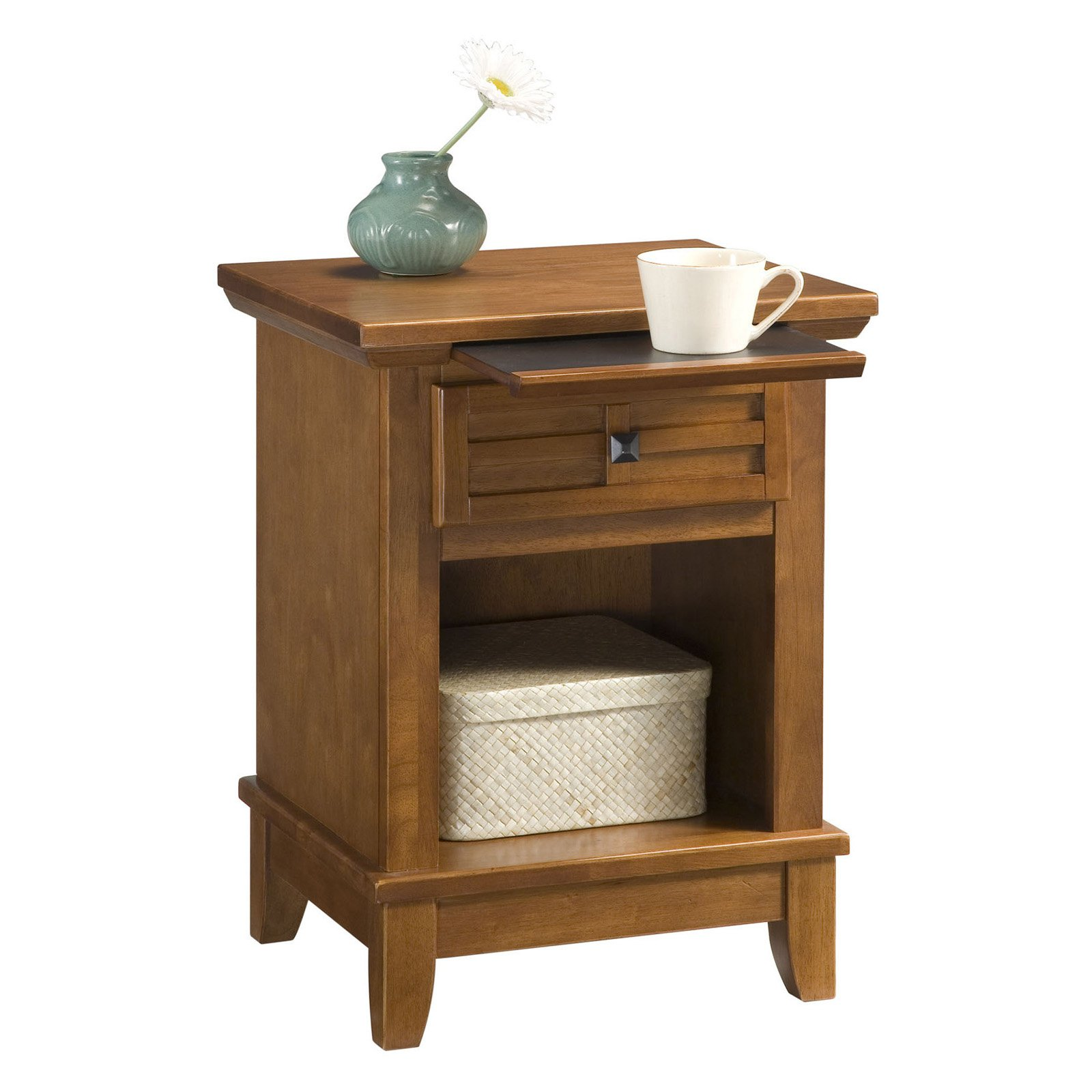 Arts and Crafts Night Stand Cottage Oak Finish