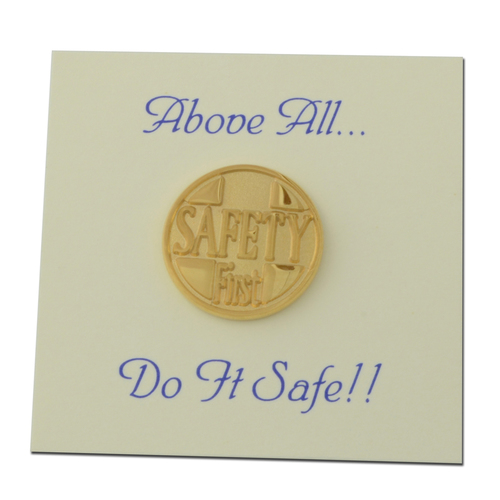 Safety First Lapel Pin