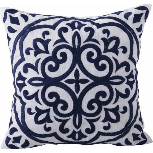Better Homes and Garden Block Embroidered Medallion Decorative Pillow