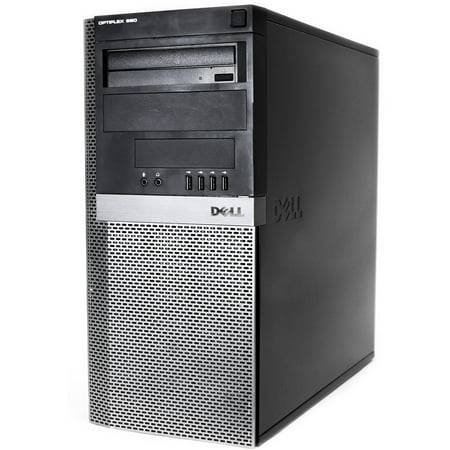 Refurbished Dell (980) Optiplex 980 Desktop PC with Intel Core i7-860 Processor, 8GB Memory, 2TB Hard Drive and Windows 10 Pro (Monitor Not Included)