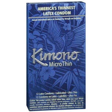 Kimono Condoms MicroThin Latex 12 Each (Pack of -