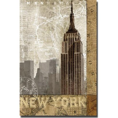 Autumn in New York by Keith Mallett Premium Gallery-Wrapped Canvas Giclee Art - 16 x 24 x 1.5 in. - image 1 de 1