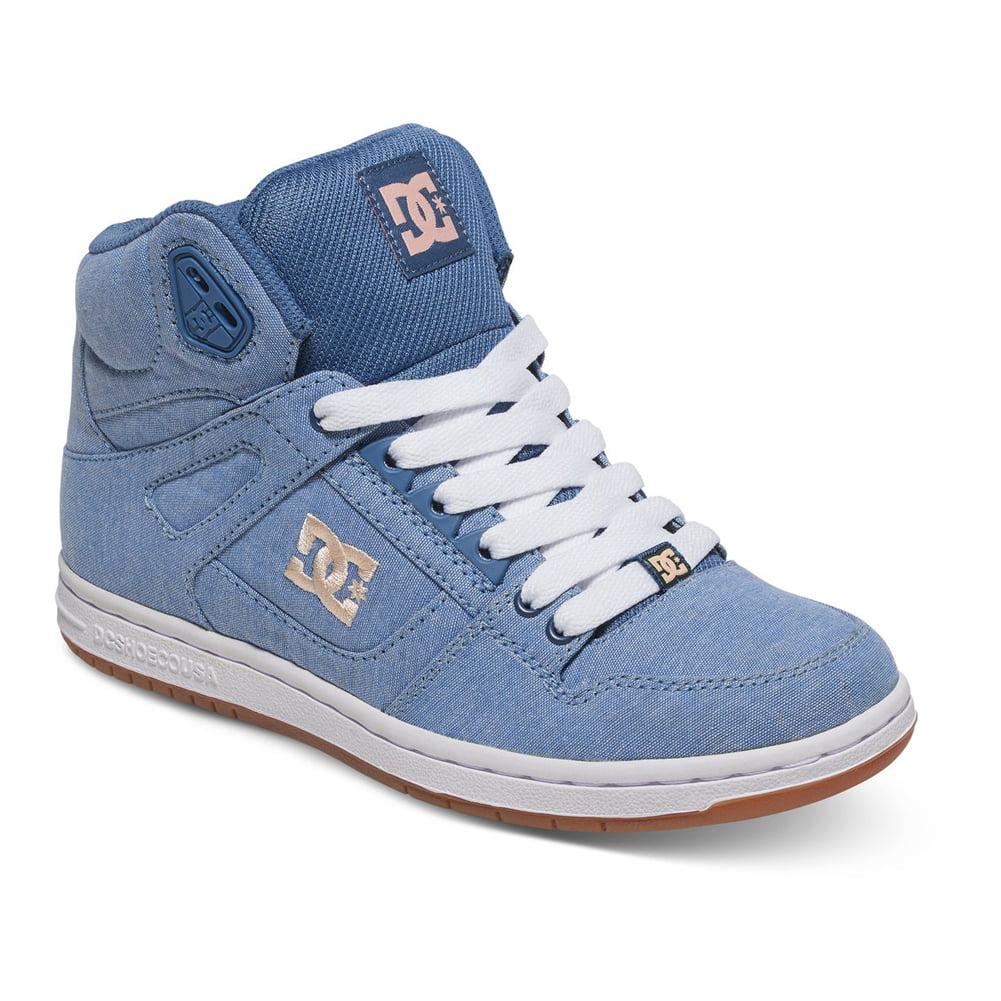 DC Women's Rebound High TX SE Sneakers Blue Textile Rubber 6 B