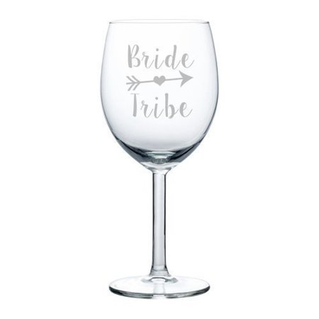Wine Glass Goblet Wedding Bridal Party Bachelorette Bridesmaid Bride Tribe (10 oz),MIP - Bachelorette Glasses