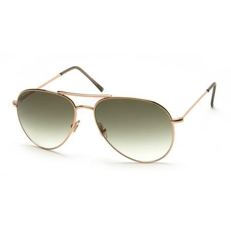 8455a8622d0 Gucci - Gucci Men s Women s Unisex Aviator Sunglasses 1287 S Rose Gold -  Walmart.com