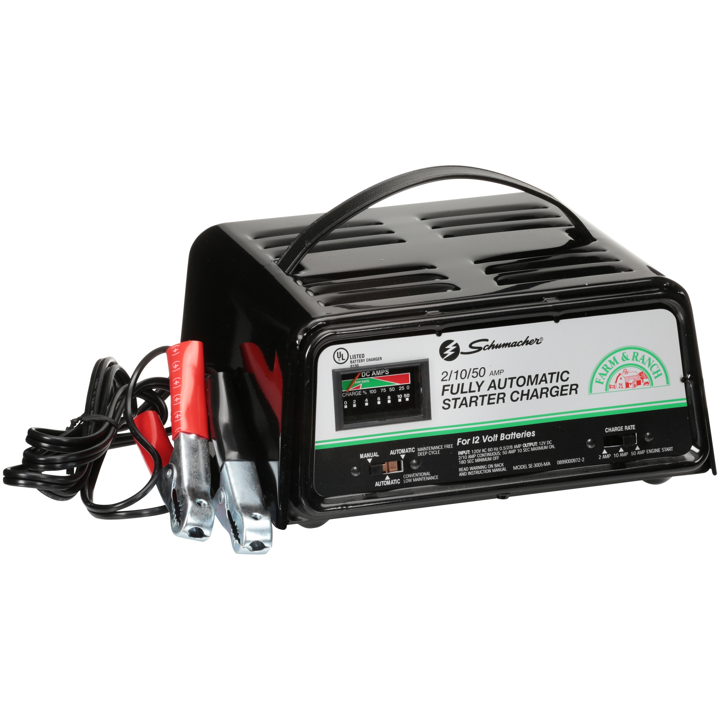 Battery Charger Schumacher 50 Amp Wiring Diagram Posts Se 1520 2 10 Fully Automatic Starter Walmart Com Instruction Manual