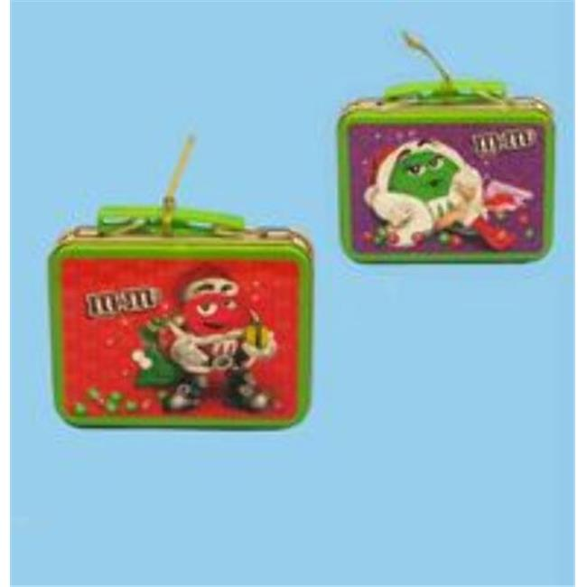 Kurtadler 1483693 M&Ms Miniature Tin Lunch Box Ornament - Case of 96