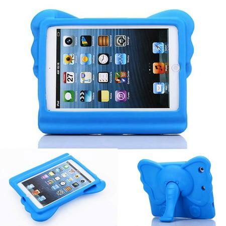 iPad Mini 4 Case for Kids, iPad Mini 1 2 3 Case for Kids, Allytech Cute Elephant Design Folding Stand EVA Rubber Lightweight Children Toddler Proof Case Cover for Apple iPad Mini 1 2 3 4,