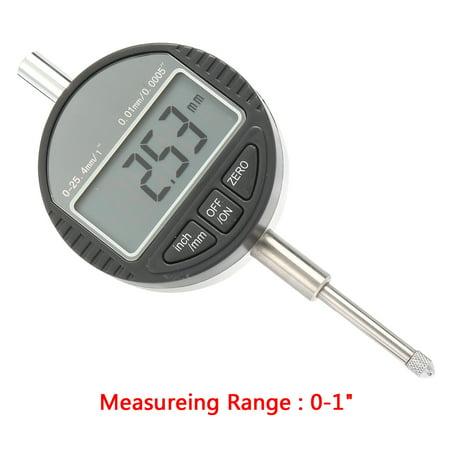 """Comparateur à cadran numérique électronique et gamme métrique 0-1"""""""" avec ergot arrière - image 6 de 6"""