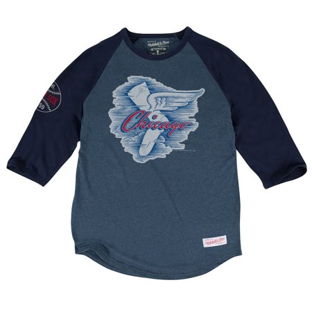 "Chicago White Sox MLB Mitchell & Ness ""Top of the Inning"" Mens 3 4 Sleeve Shirt by"