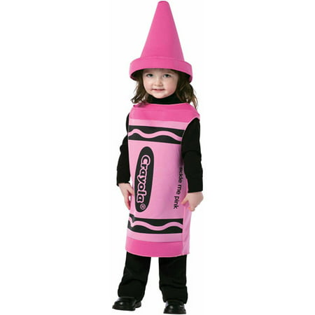 Crayola Tickle Me Pink Crayon Toddler Halloween Costume (Pink Minnie Mouse Halloween Costume)