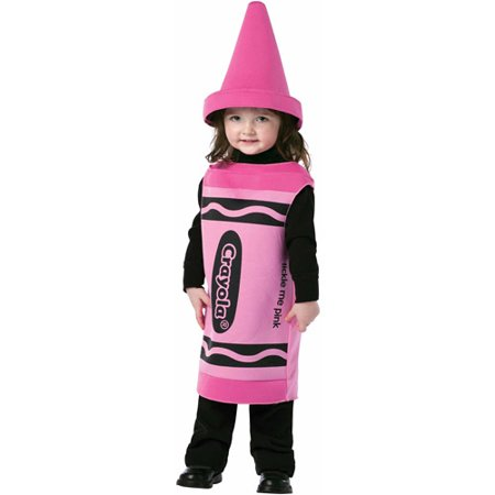 Crayola Tickle Me Pink Crayon Toddler Halloween Costume - Supergirl Pink Toddler Halloween Costume
