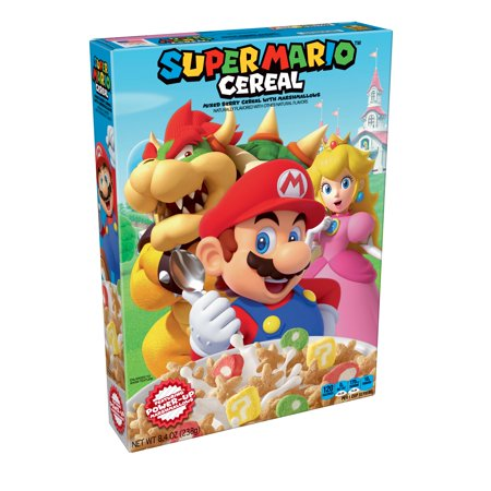 Super Mario Breakfast Cereal - 8.4oz - Kellogg's