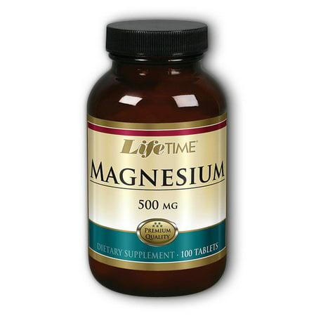 lifetime magnesium 500 mg mineral supplements, 100 count Lifetime Calcium Magnesium Citrate