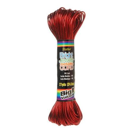 Cord Metallic Red 27Yd