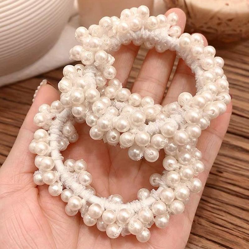 Elastic hair or pearly bead bracelet