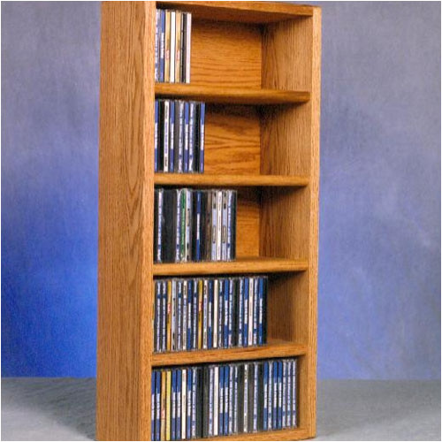 Wood Shed 500 Series 130 CD Wall Mounted Multimedia Storage Rack