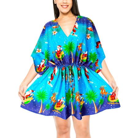 d57a2e81a7 Women Christmas Beachwear Casual Kimono Swimwear Blouse bikini Cover ups.  Average rating:0out of5stars, based on0reviewsWrite a review. LA LEELA.  This ...