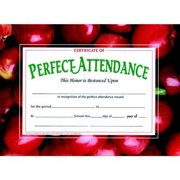 "Hayes Perfect Attendance Certificate, 8.5"" x 11"", Pack of 30"