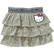 Hello Kitty Girls' Face Waistband Tiered Skirt
