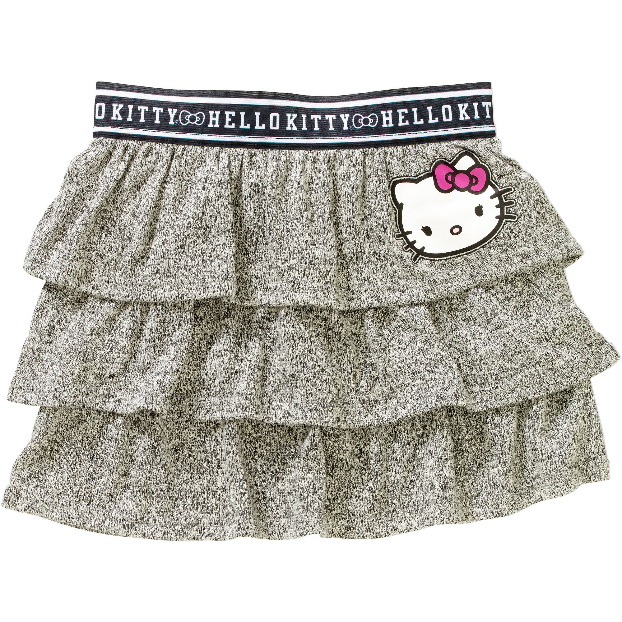 Girls' Classic Hacci Elastic Waistband Tiered Skirt