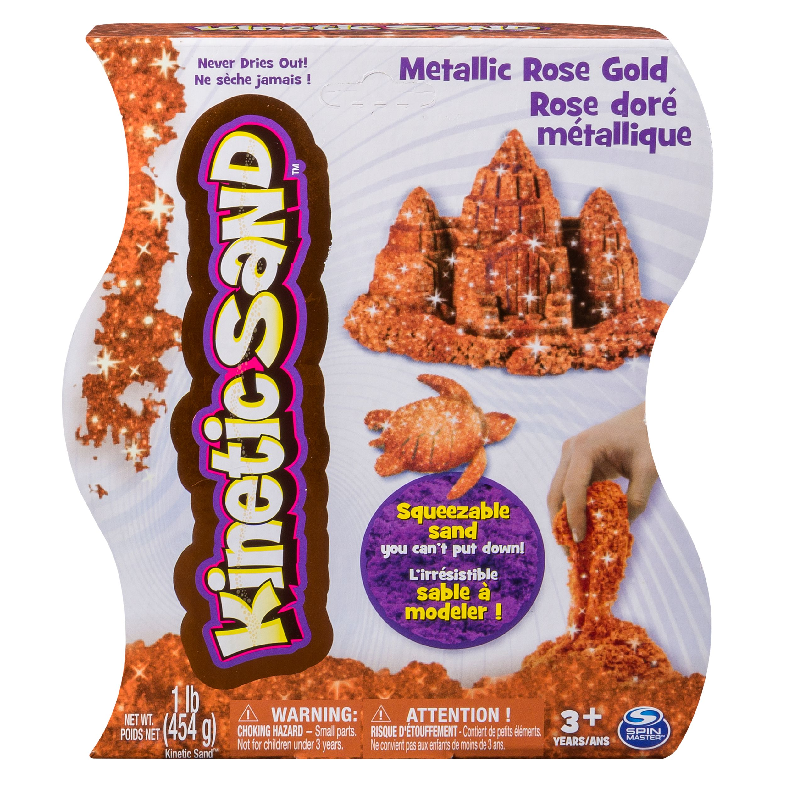 Kinetic Sand, Shimmering Metallic Gold 1lb Pack, for Ages 3 and Up