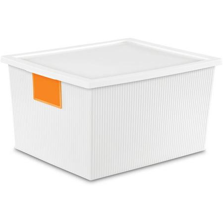 Sterilite 25 Quart ID Box- White (Available in Case of 6 or Single Unit)