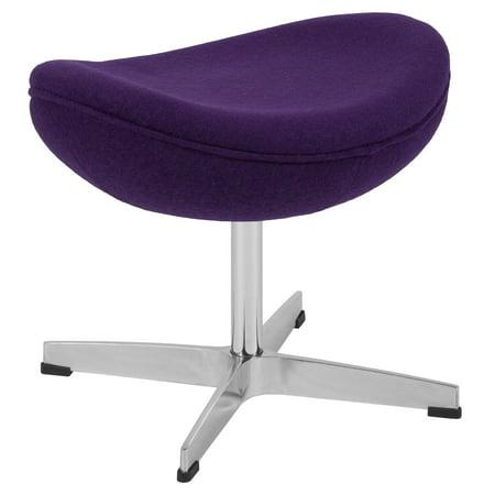 Purple Wool Fabric Ottoman