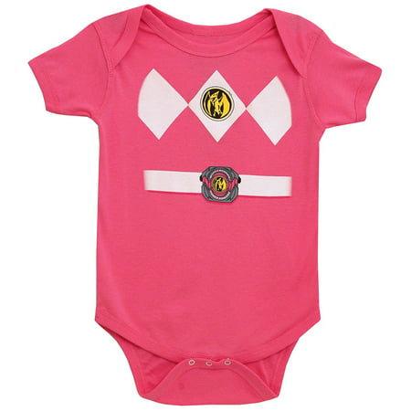 Power Rangers Baby Pink Ranger Costume Romper](Cheap Costumes For Babies)