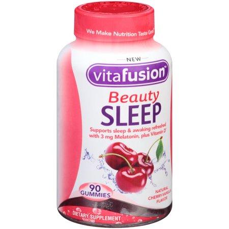 Vitafusion Beauty Sleep Gummies Cherry Vanilla Flavor   90 Ct